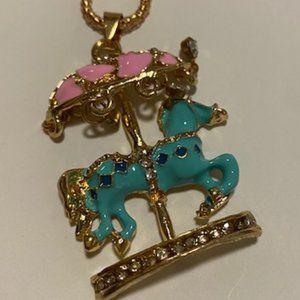 Betsey Johnson Carousel Necklace